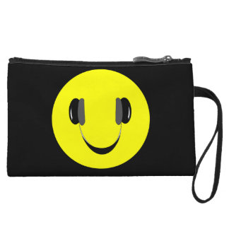 Smiley music lover wristlet purses