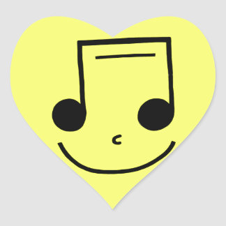 Smiley Notes! Heart Sticker
