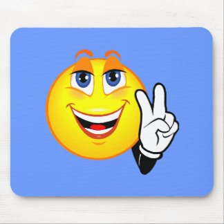 Smiley Peace Mouse Pad
