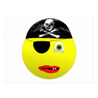 Smiley Pirate Postcard
