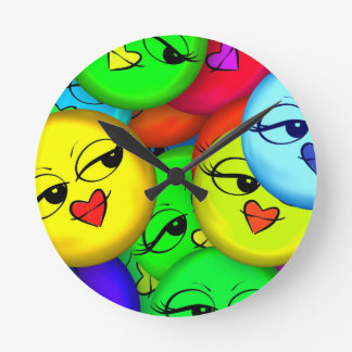 Smiley Round Clock