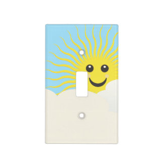 Smiley Sky Light Switch Cover