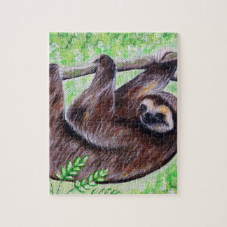 Smiley Sloth Painting Jigsaw Puzzle