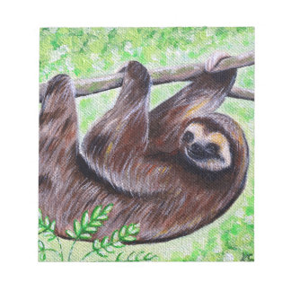 Smiley Sloth Painting Notepad