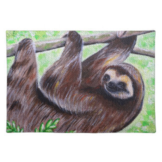 Smiley Sloth Painting Placemat