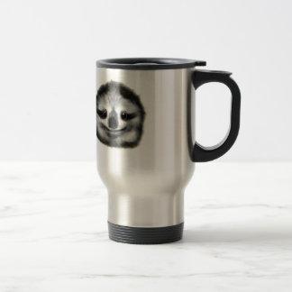 smiley sloth travel mug