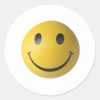 Smiley Smart Expression Smilie Round Sticker
