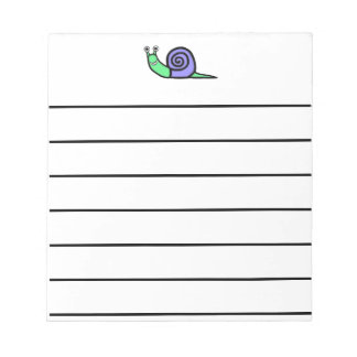 Smiley Snail Notepad