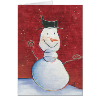 Smiley Snowman Greeting Card
