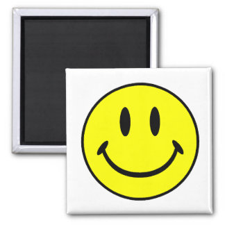 Smiley Square Magnet