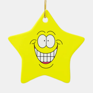 Smiley Star Ornament