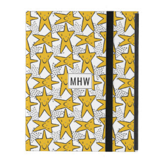 Smiley Stars Pattern custom monogram device cases