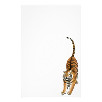 Smiley Stretching Bengal Tiger Stationery