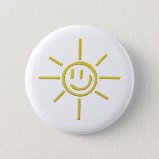 Smiley Sun Face 2 Inch Round Button