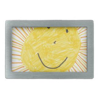 SMILEY SUN KIDS DRAWING BELT BUCKLE
