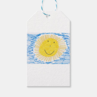 SMILEY SUN KIDS DRAWING GIFT TAGS