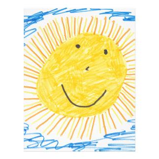 SMILEY SUN KIDS DRAWING LETTERHEAD