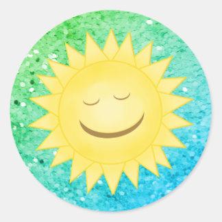 Smiley Sun: Rainbow Glitter Stickers 4