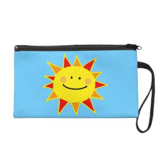 Smiley sun wristlet