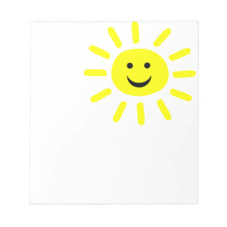 Smiley Sunshine Notepad
