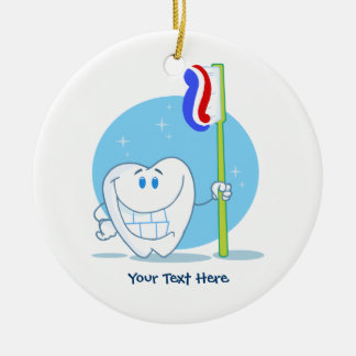 Smiley Tooth (customizable) Ceramic Ornament