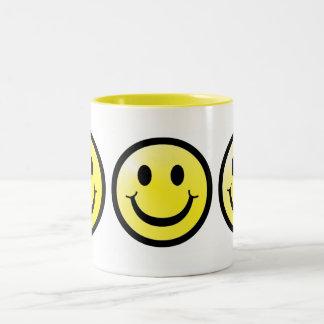 Smiley Two-Tone Coffee Mug