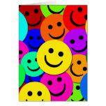 SMILEYS COLLAGE GREETING CARD