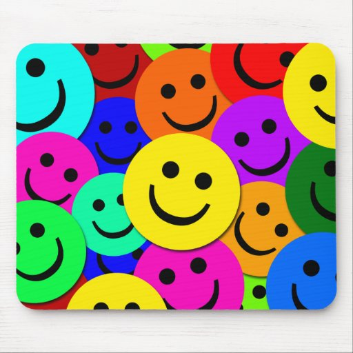 SMILEYS COLLAGE MOUSEPAD