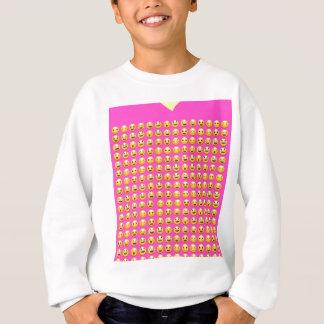 smileys on pinks sweatshirt