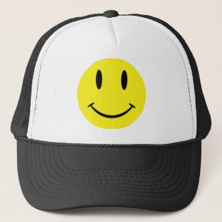 SmileyWithBG Trucker Hat