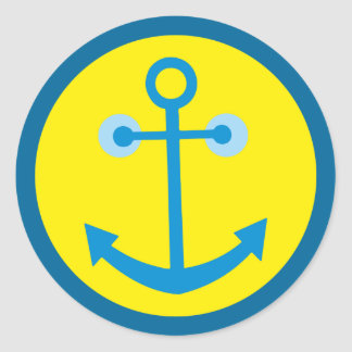 smilie anchors anchor classic round sticker