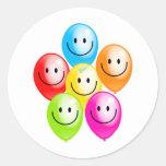 Smilie Balloons Classic Round Sticker