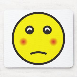 smilie bashfully ashamed mouse pad
