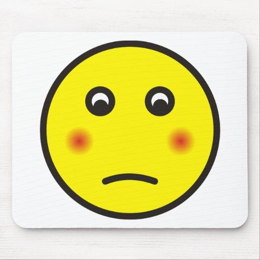 smilie bashfully ashamed mouse pads