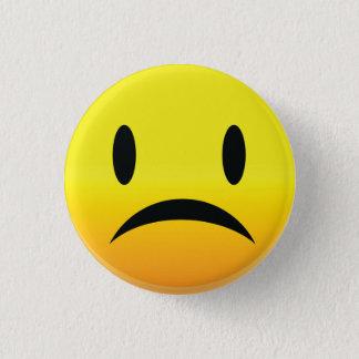 Smilie Face Sad 1 Inch Round Button