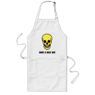 Smilie Face Skull Long Apron