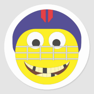 Smilie ice hockey player ice hockey more player round sticker