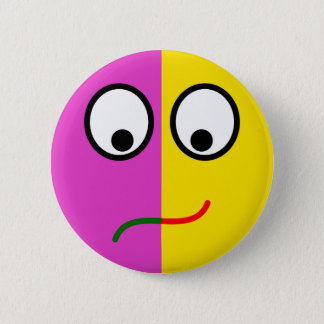 Smilie laughter wines smiley lye-hung crying 2 inch round button