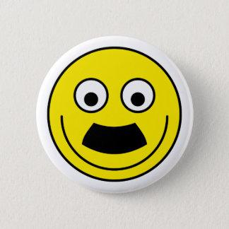Smilie moustache smiley moustache 2 inch round button