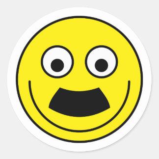 Smilie moustache smiley moustache round sticker
