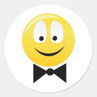Smilie smartie pants round sticker