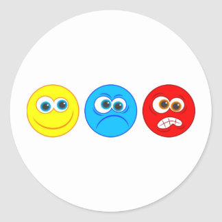 Smilies Classic Round Sticker