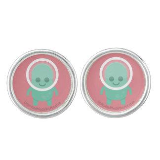 Smiling Alien Cufflinks