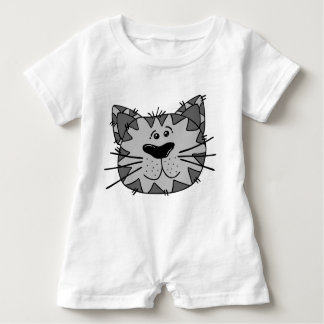 Smiling Alley Cat Baby Romper