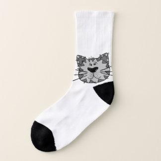 Smiling Alley Cat Socks