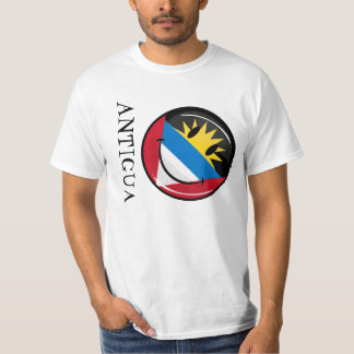 Smiling Antigua and Barbuda Flag T-Shirt