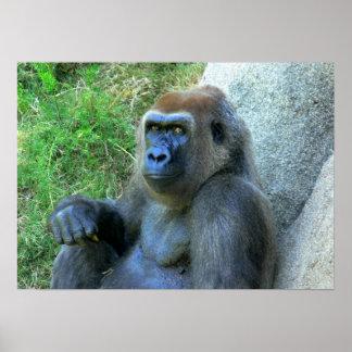 Smiling Ape Poster