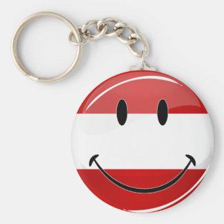 Smiling Austrian Flag Keychain