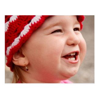 Smiling baby girl postcard