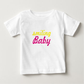 smiling baby text baby T-Shirt